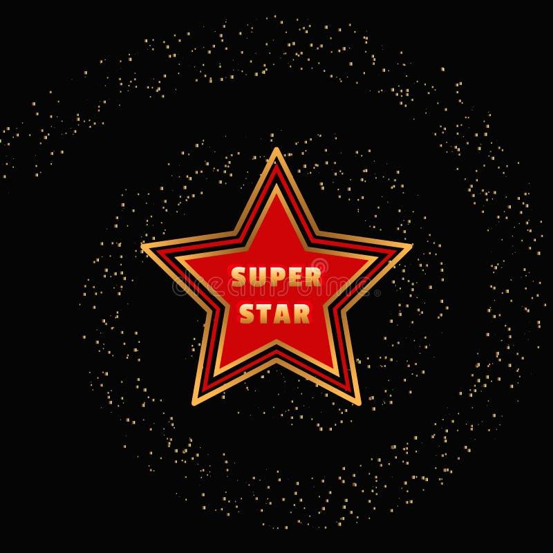Super gwiazdowy pojęcie ilustracja wektor