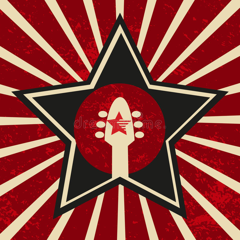 Super gwiazdowy sztandar royalty ilustracja