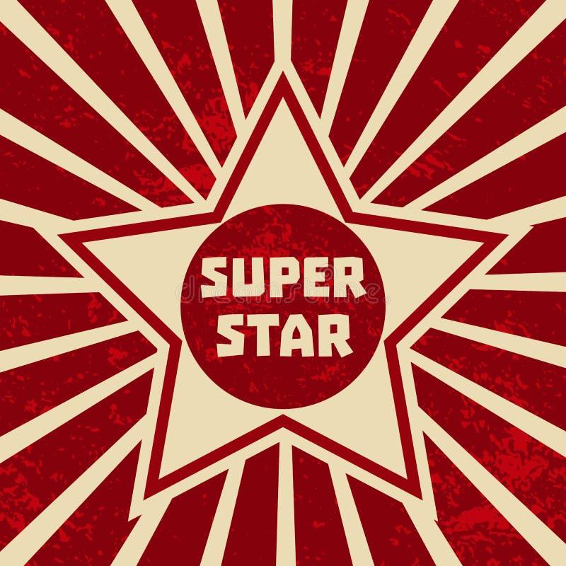 Super gwiazdowy sztandar ilustracja wektor