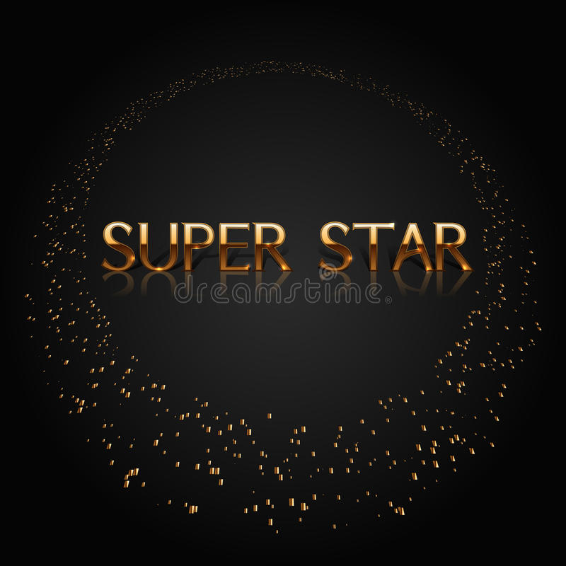 Super gwiazdowy złoto ilustracja wektor