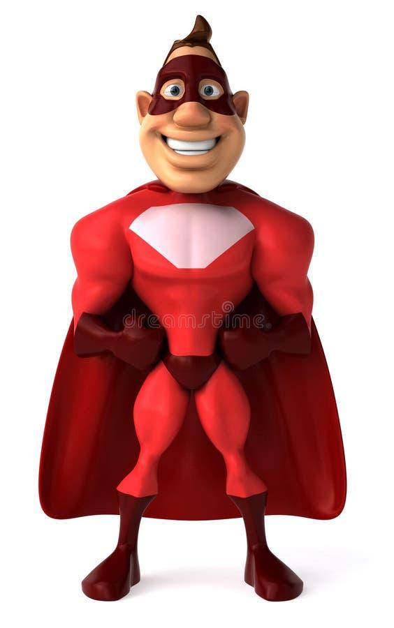 Super héroe stock de ilustración