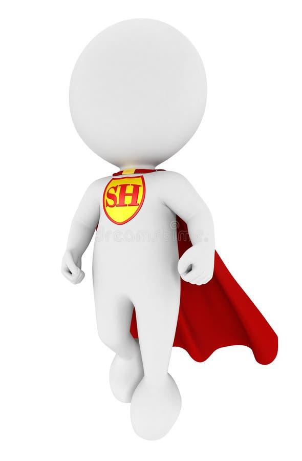 super héroe blanco de la gente 3d ilustración del vector