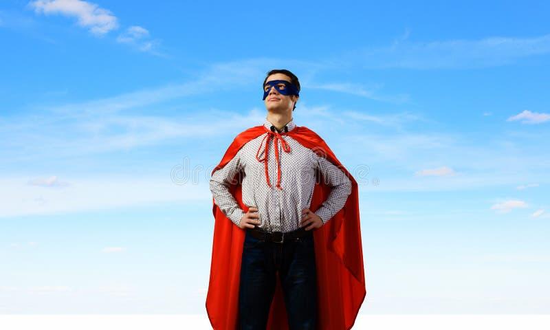 Super héroe confiado imagen de archivo