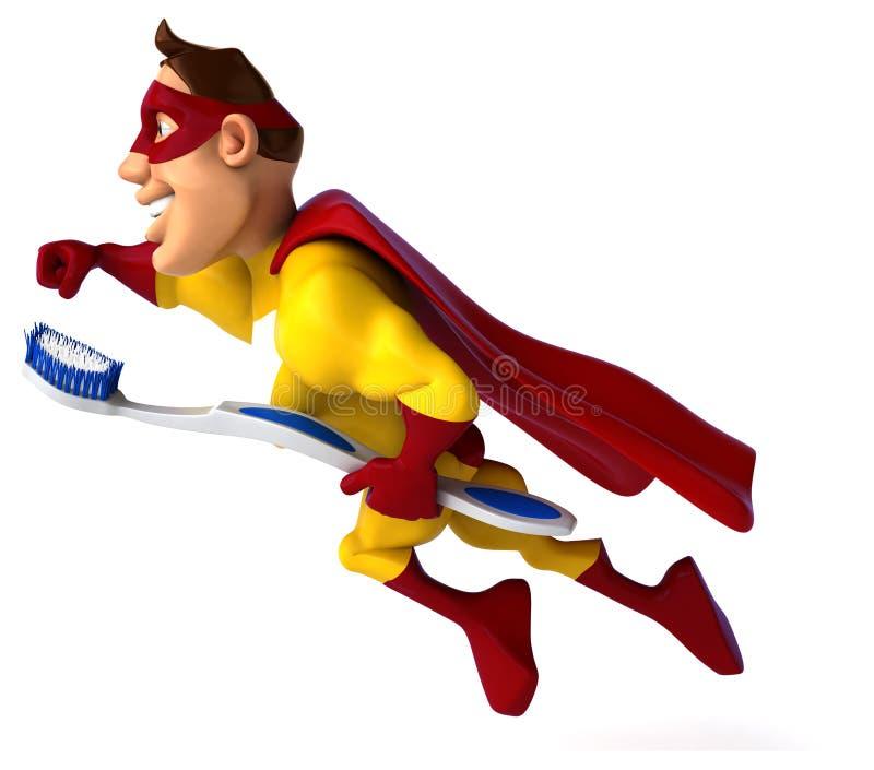 Super héroe de la diversión stock de ilustración