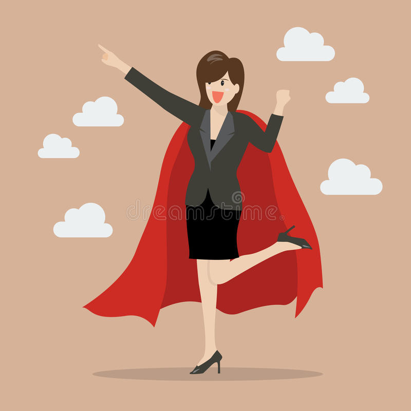 Super héroe de la mujer de negocios libre illustration