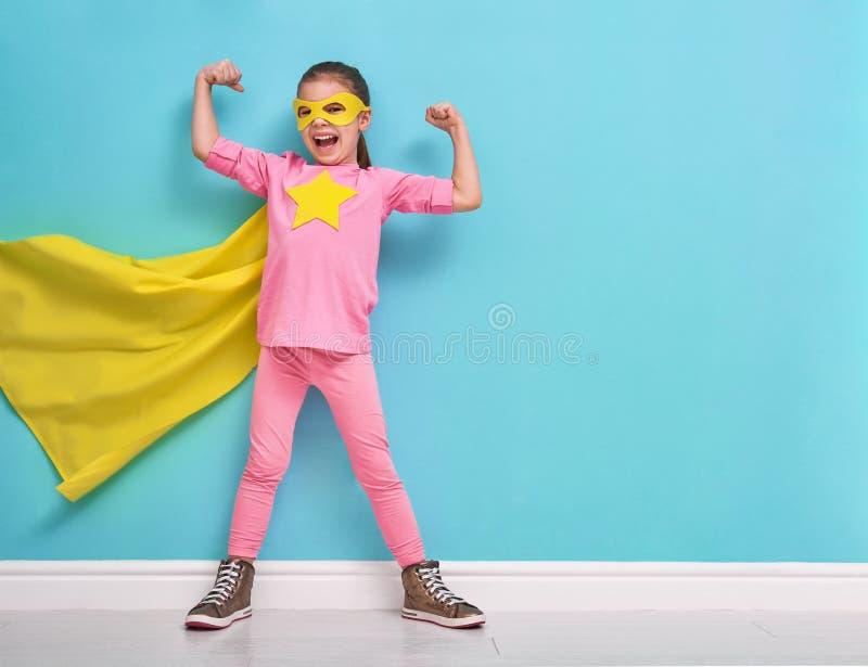 Super héroe de los juegos de niños fotografía de archivo
