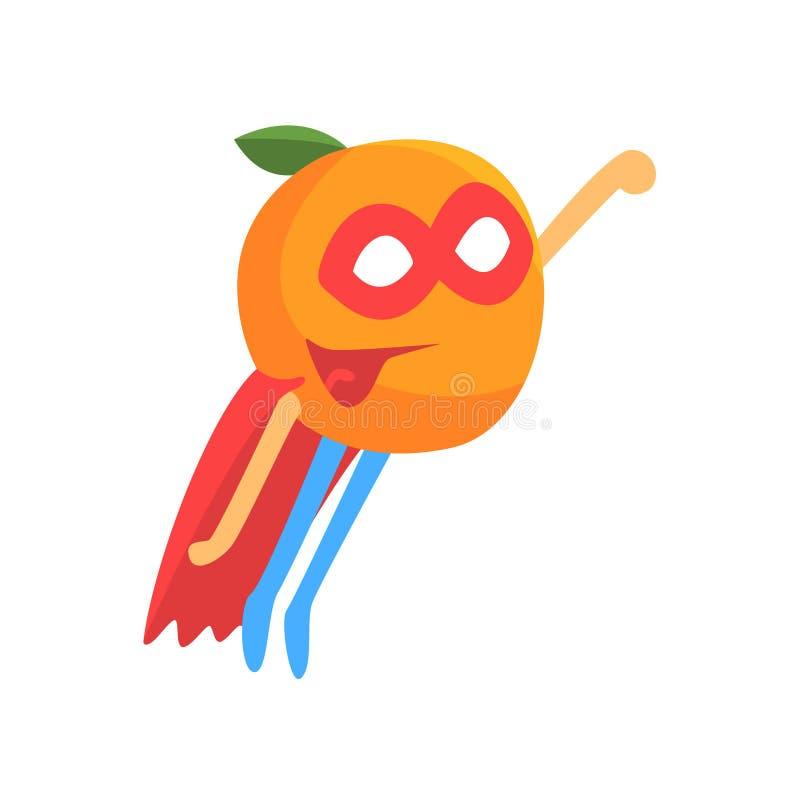 Super héroe de Orage con cabo y máscara, parte de verduras en series de los disfraces de la fantasía de caracteres tontos de la h libre illustration