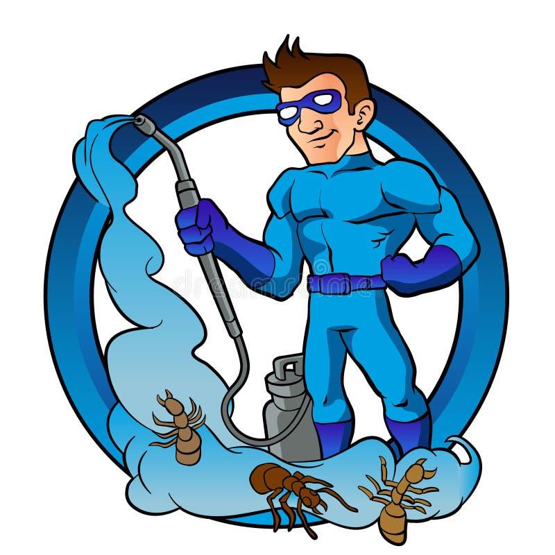 Super héroe del control de parásito libre illustration