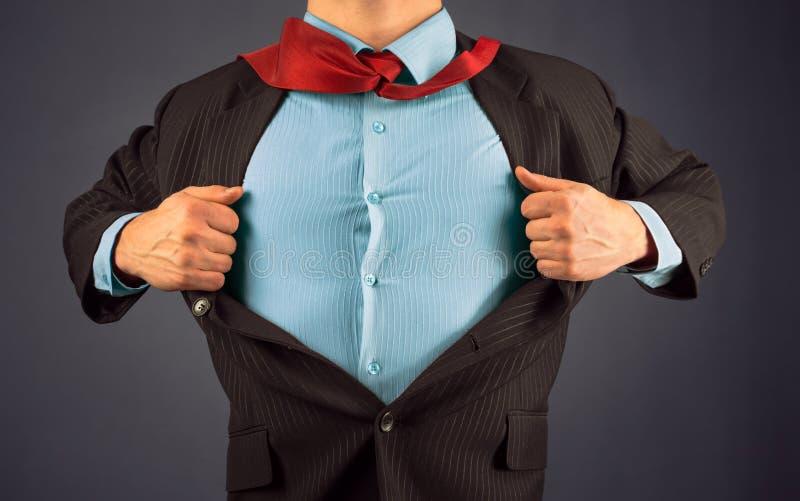 Super héroe del hombre de negocios fotografía de archivo libre de regalías