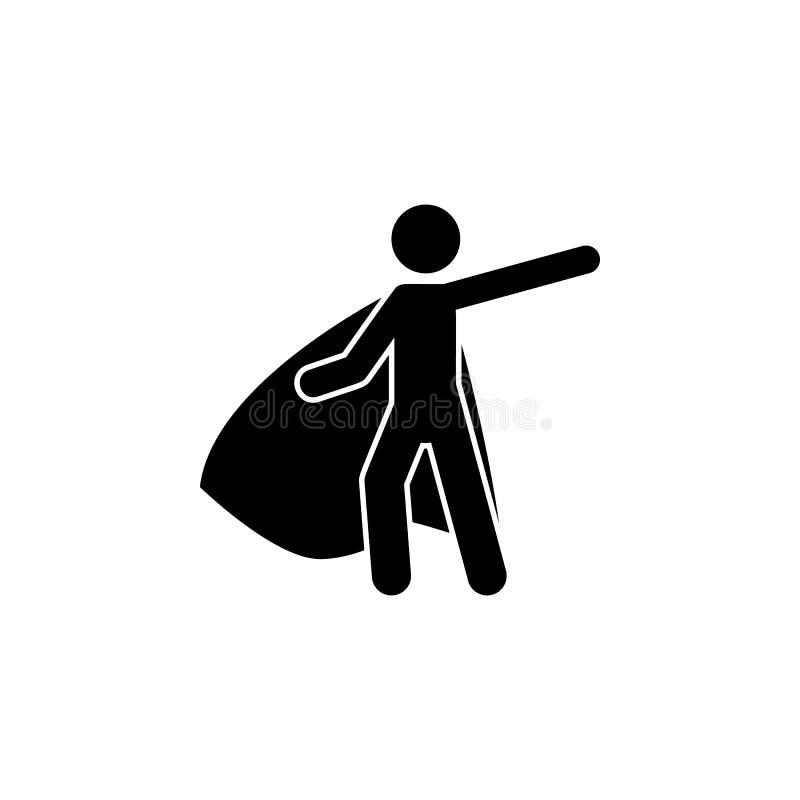 super héroe, icono del héroe Elemento del icono del super héroe para los apps móviles del concepto y de la web El super héroe det ilustración del vector