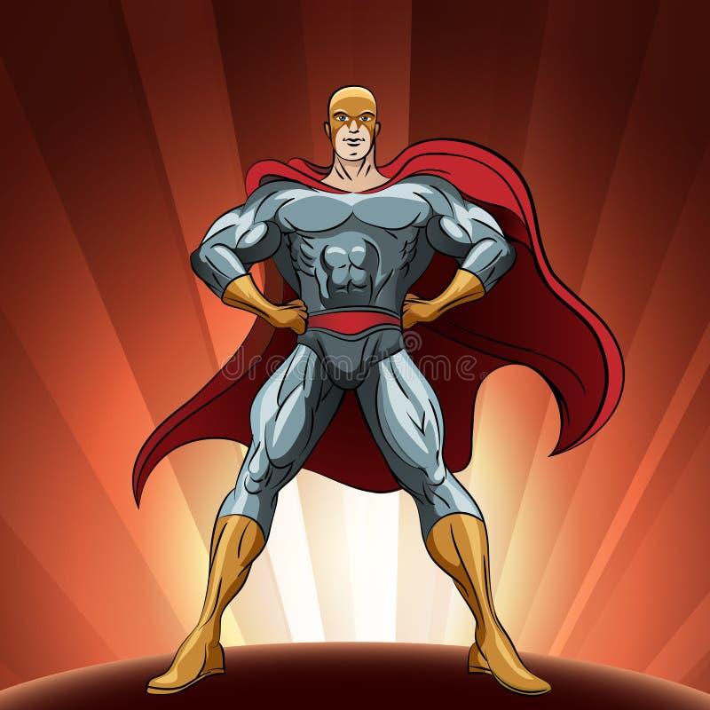 Super héroe orgulloso ilustración del vector
