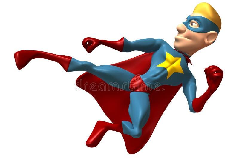 Super héroe rubio libre illustration