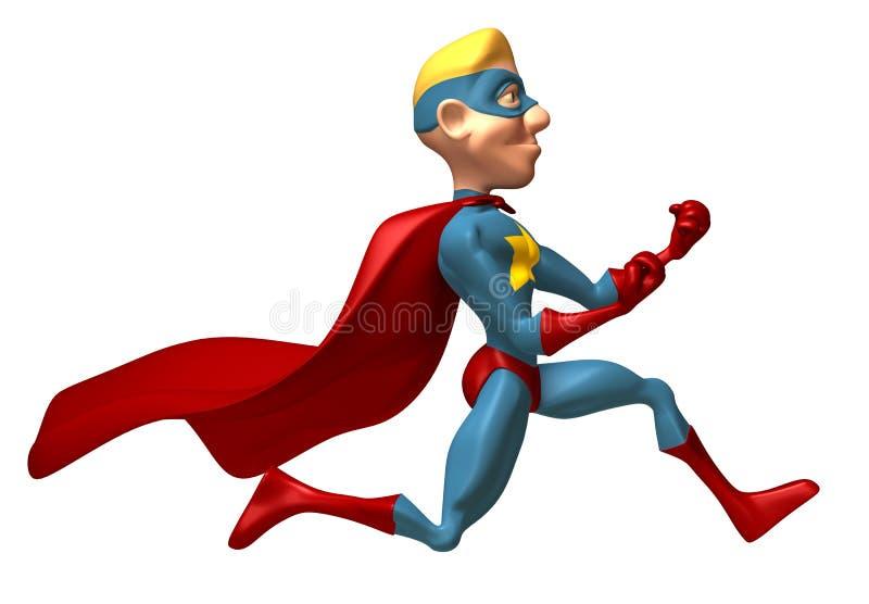 Super héroe rubio stock de ilustración