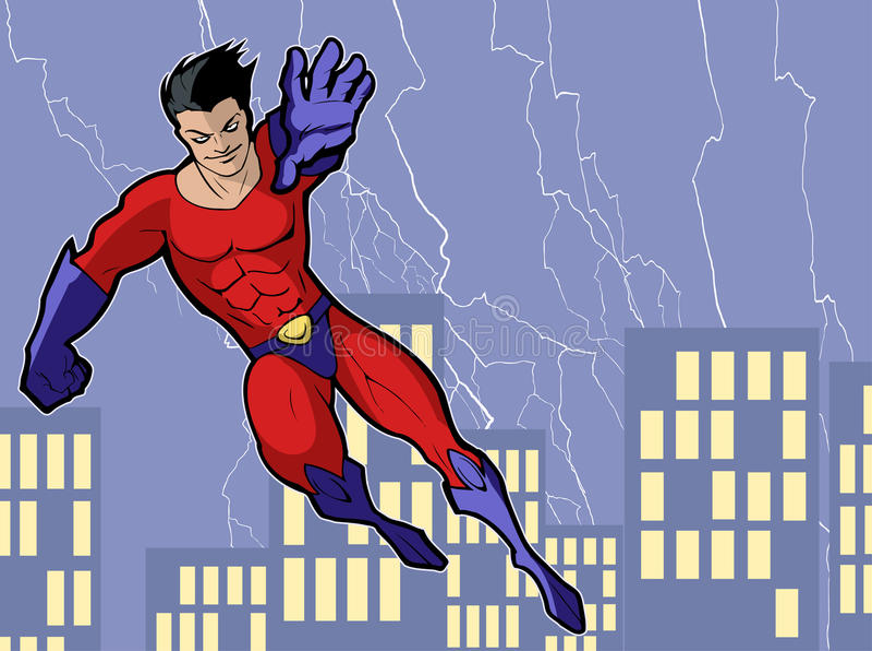 Super héros illustration stock