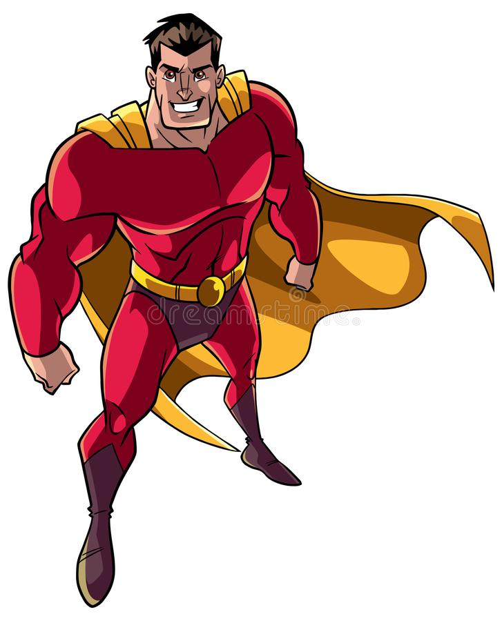 Super héros d'en haut illustration libre de droits