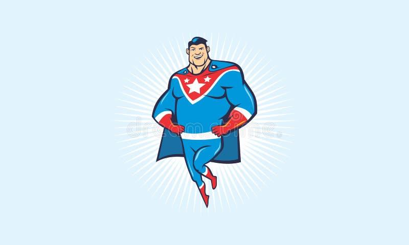 Super héros de bande dessinée illustration de vecteur