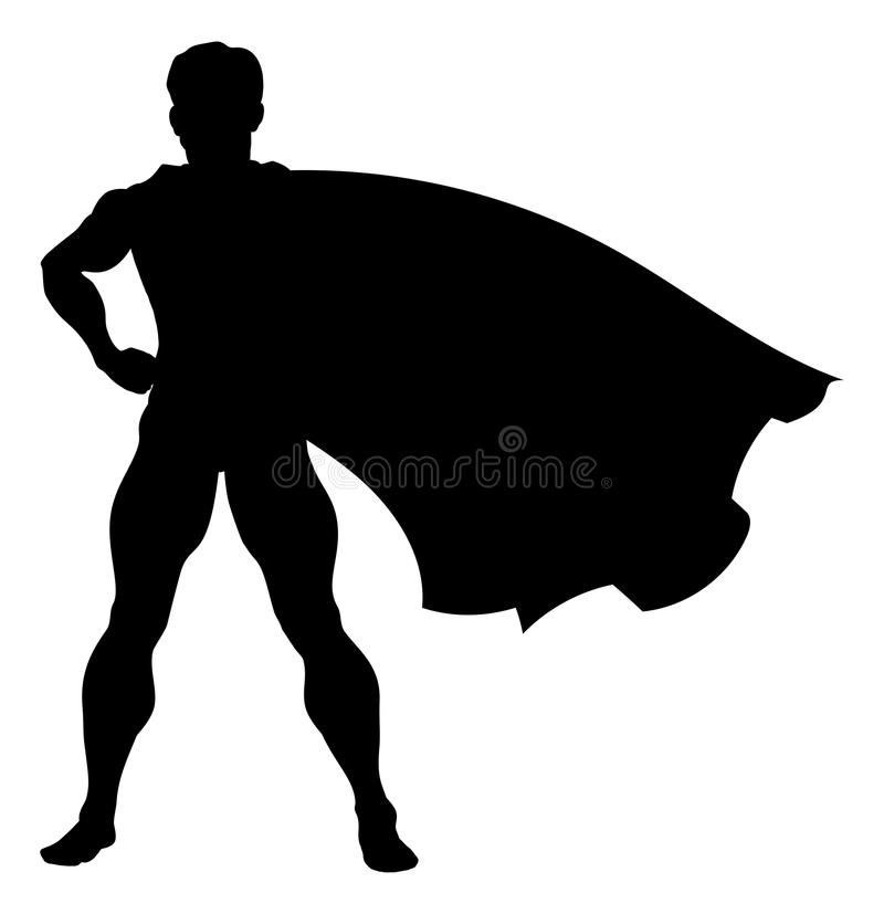 Super héros de silhouette illustration stock