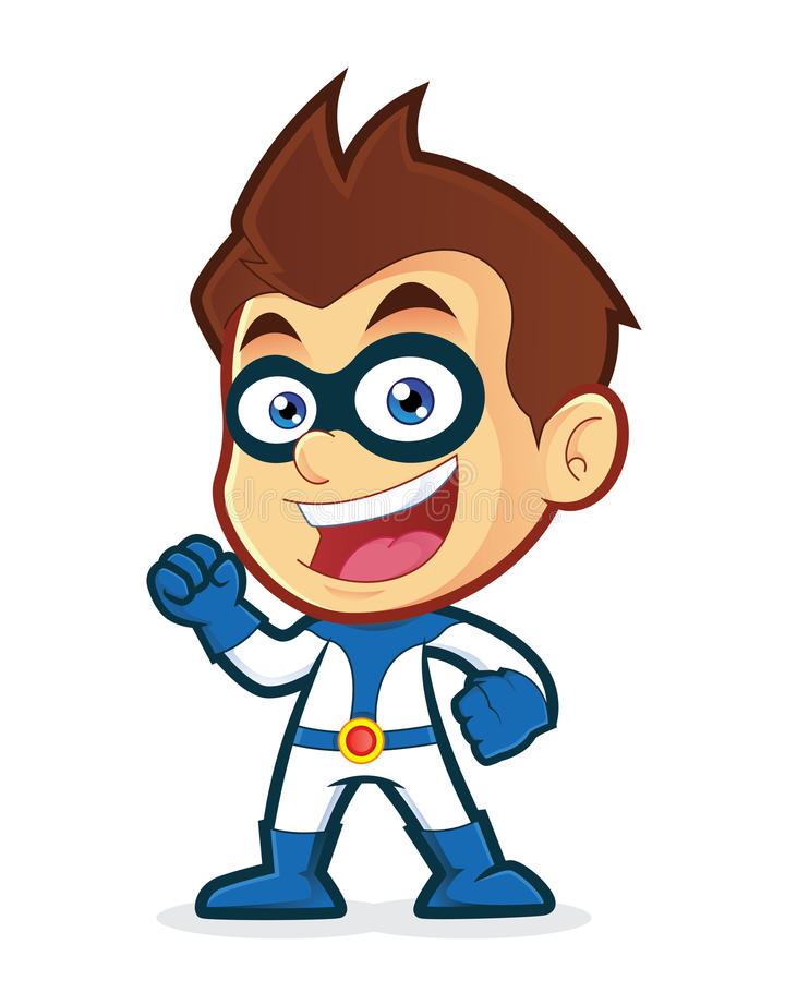 Super héros enthousiaste illustration libre de droits