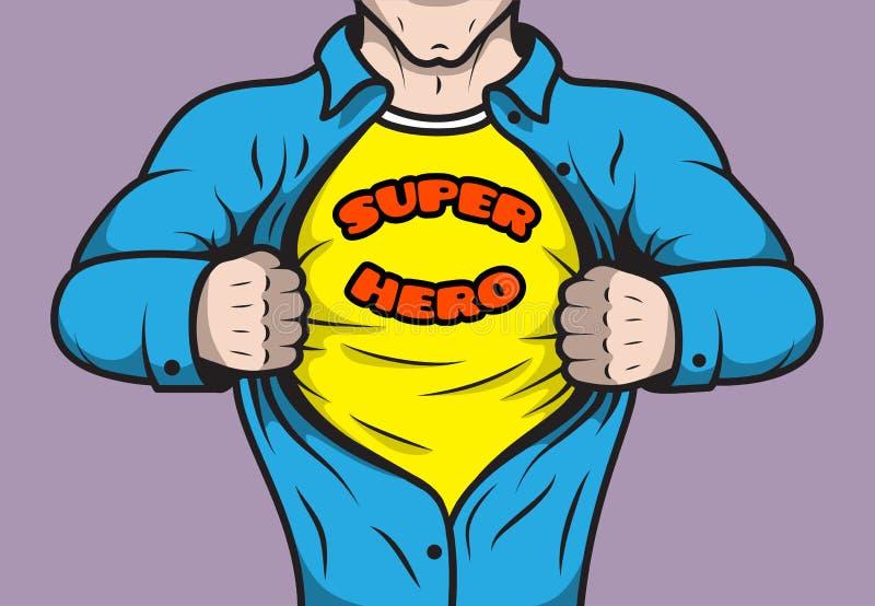 Super héros masqué de bande dessinée illustration libre de droits