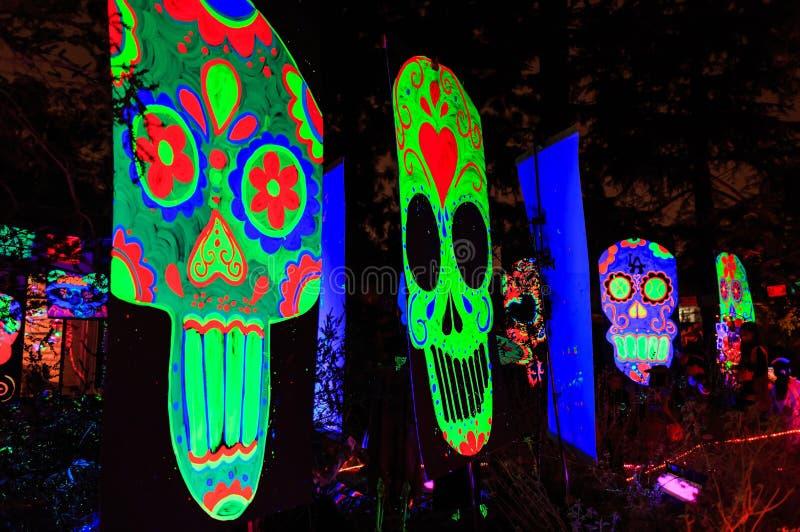 Super Halloweenowa dekoracja przy Alegria aleją, sierra Madre obrazy royalty free