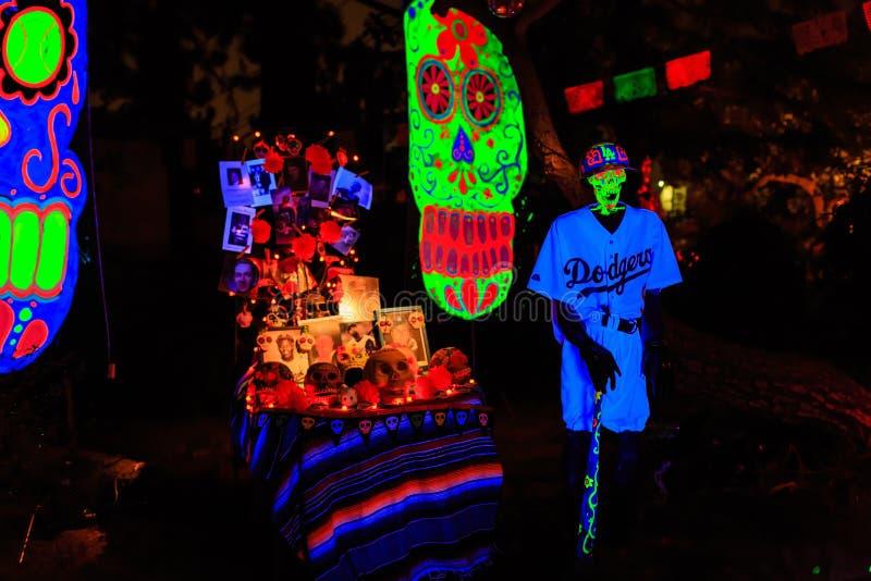 Super Halloweenowa dekoracja przy Alegria aleją, sierra Madre fotografia stock