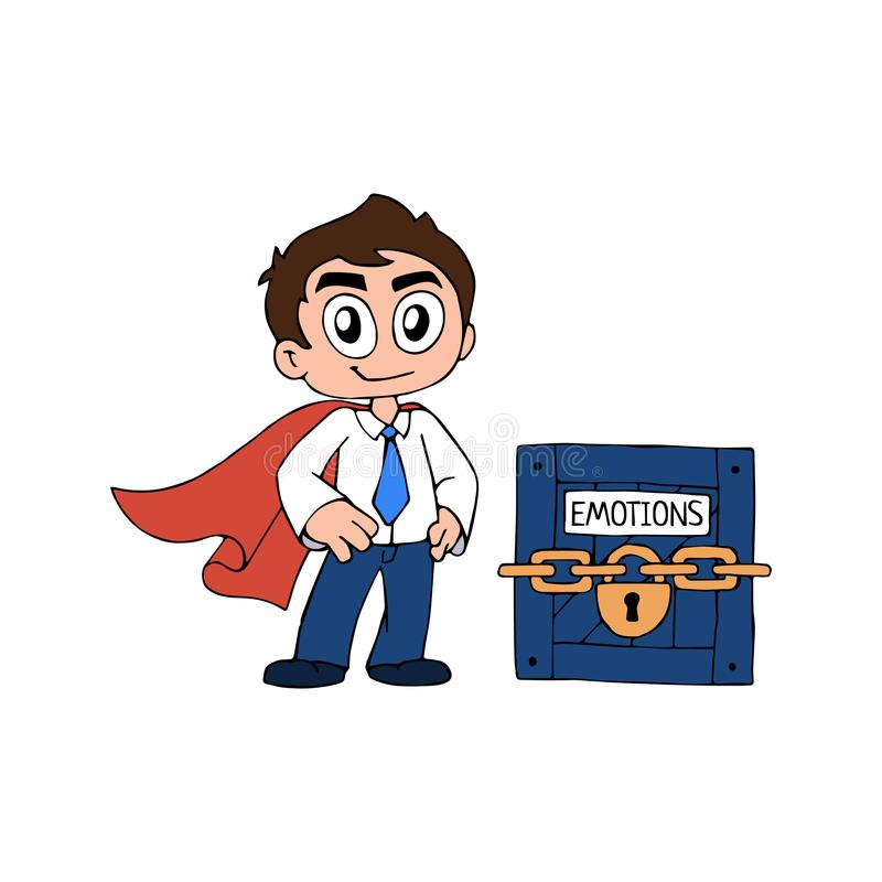Super Handelaar vector illustratie