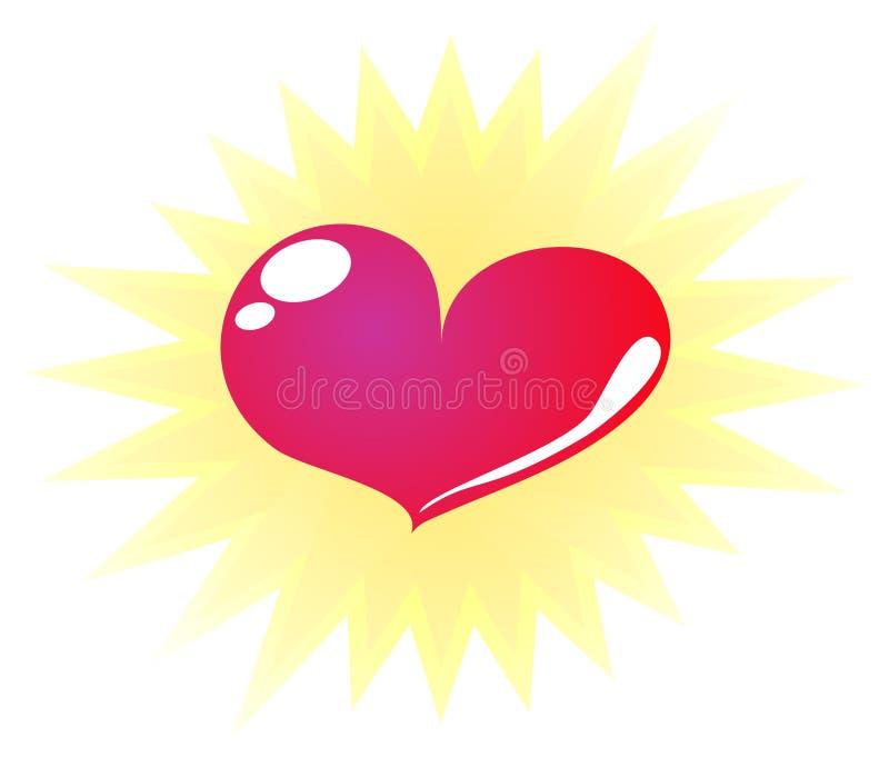 Super heart - vector stock photo