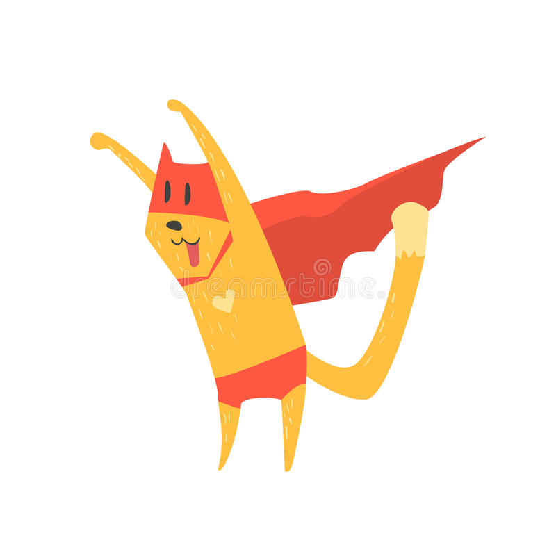 Super Held Cat Attacking royalty-vrije illustratie