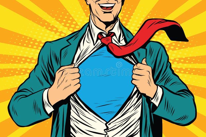 Super helden mannelijke zakenman vector illustratie