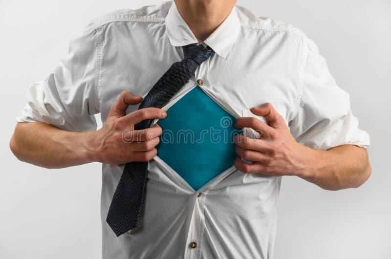 Super heldenkostuum van de bedrijfsmens royalty-vrije stock foto