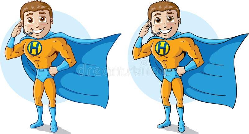 Download Super Help Desk stock vector. Image of happy, strong - 38345954
