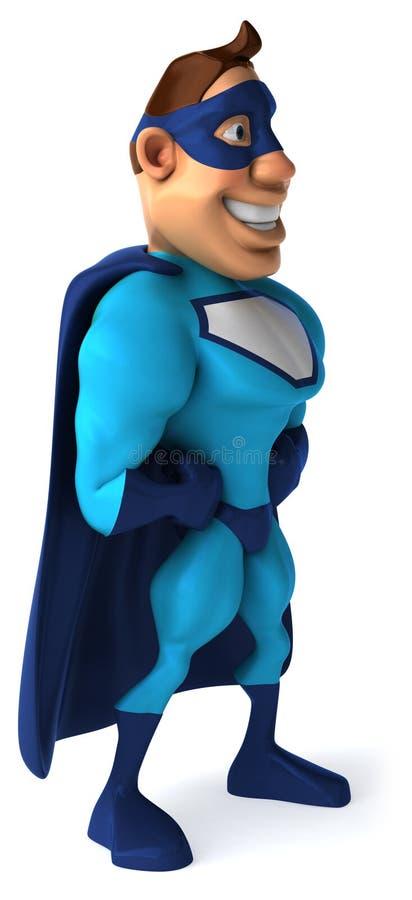 Super-herói azul ilustração do vetor