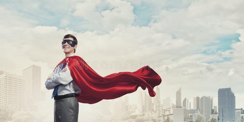 Super-herói corajoso fotos de stock royalty free