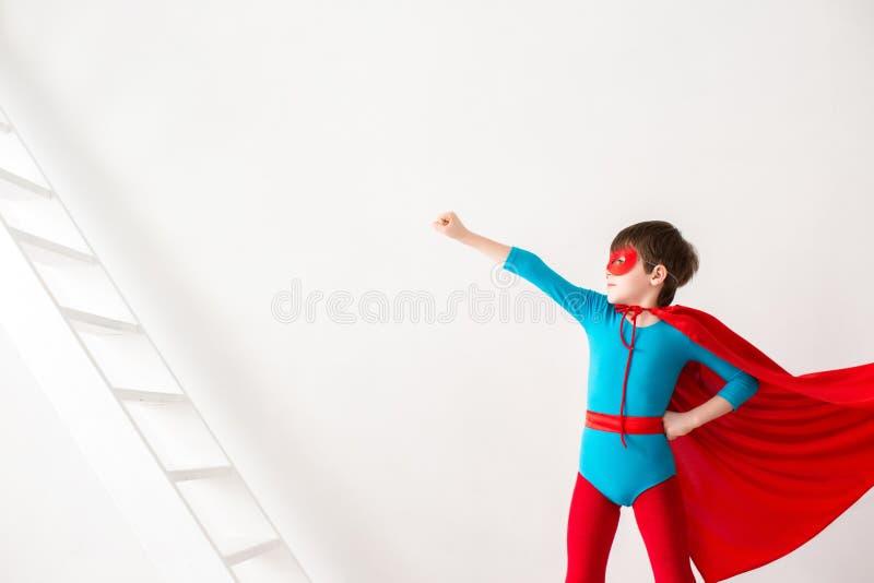 Super-herói da criança fotos de stock royalty free