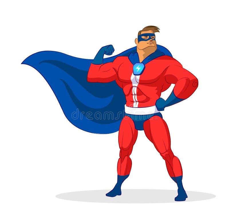 Super-herói da mulher ilustração stock