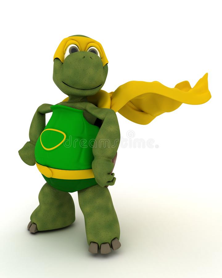 Super-herói da tartaruga ilustração stock