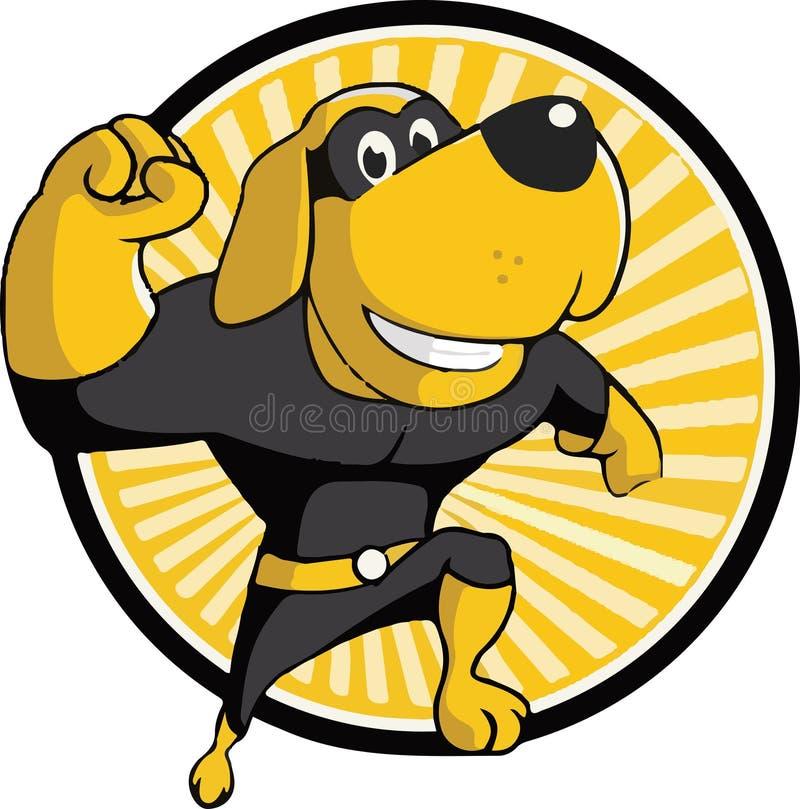 Super-herói do cão ilustração do vetor