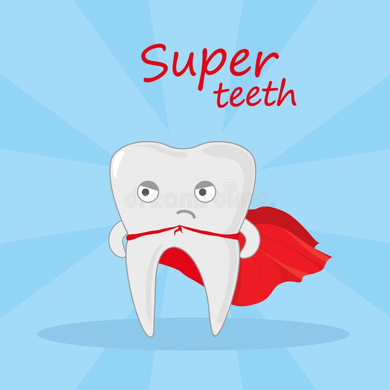 Super-herói do dente ilustração royalty free