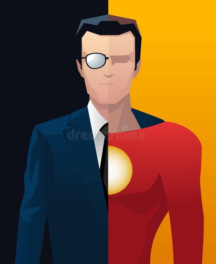 Super-herói do executivo empresarial do homem de negócios ilustração stock