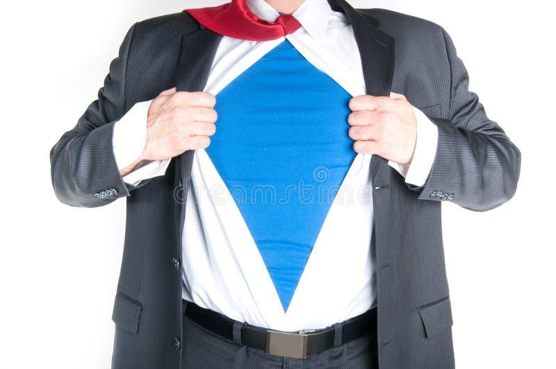 Super-herói do homem de negócio imagens de stock