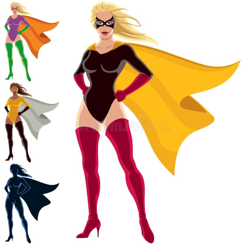 Super-herói - fêmea ilustração royalty free
