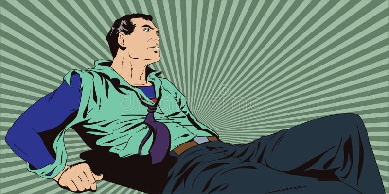 Super-herói ferido ilustração stock