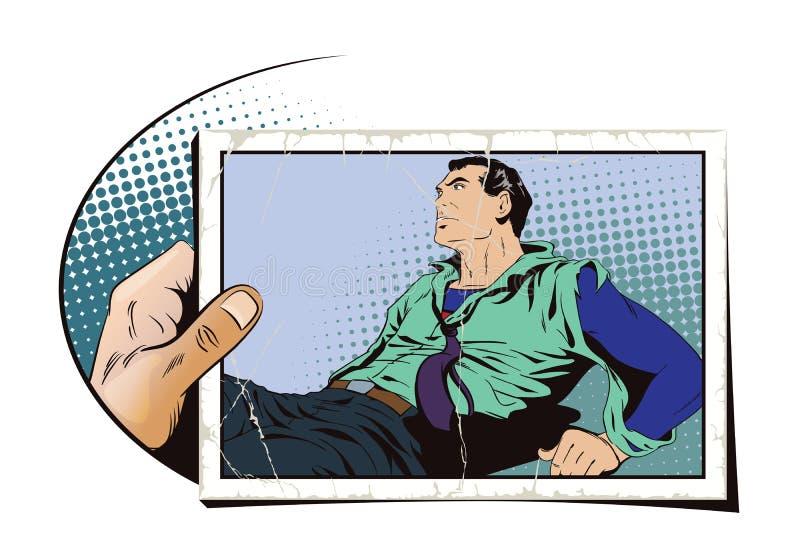 Super-herói ferido ilustração royalty free