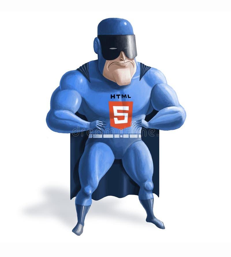 Super-herói HTML5 imagens de stock