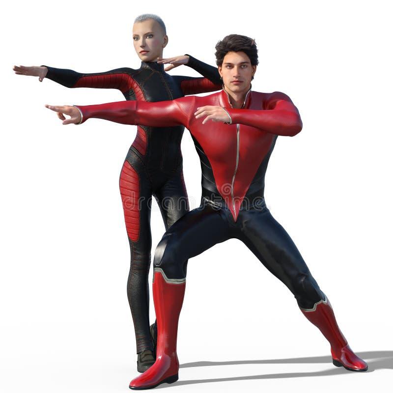 Super-herói isolados ilustração stock