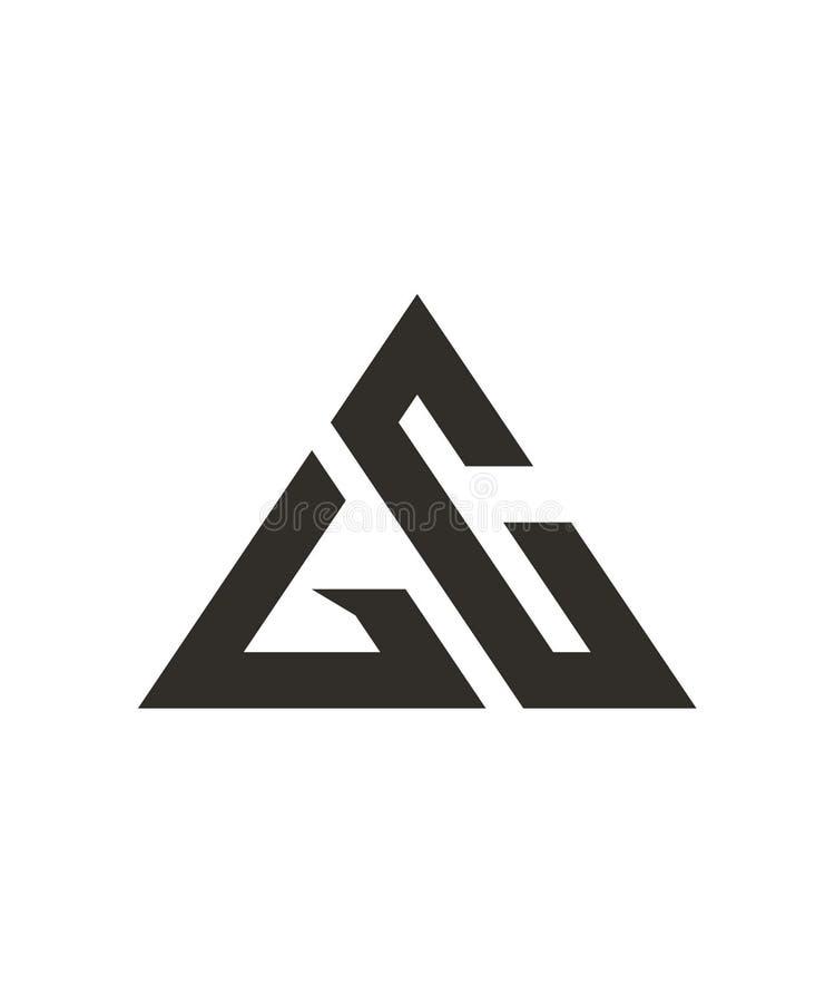 Super-herói Logo Design do triângulo do CG do GC para a empresa ilustração do vetor