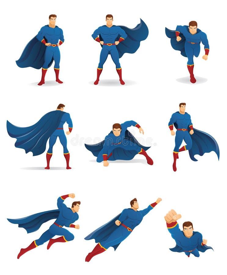 Super-herói na ação ilustração stock