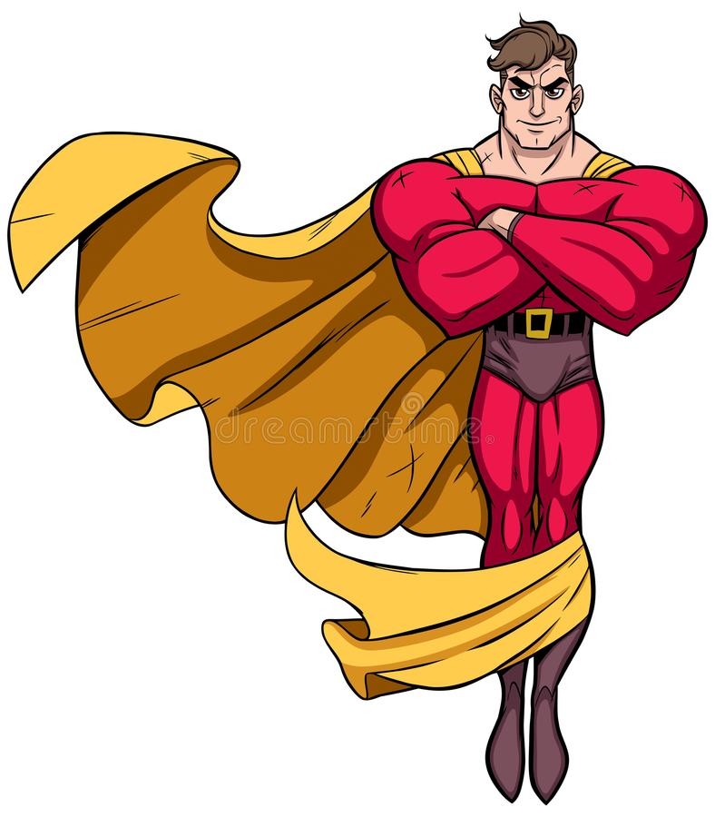 Super-herói que voa 3 ilustração do vetor