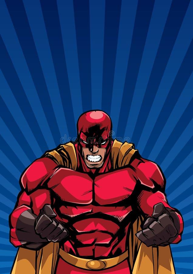 Super-herói Ray Light Background Raging ilustração do vetor
