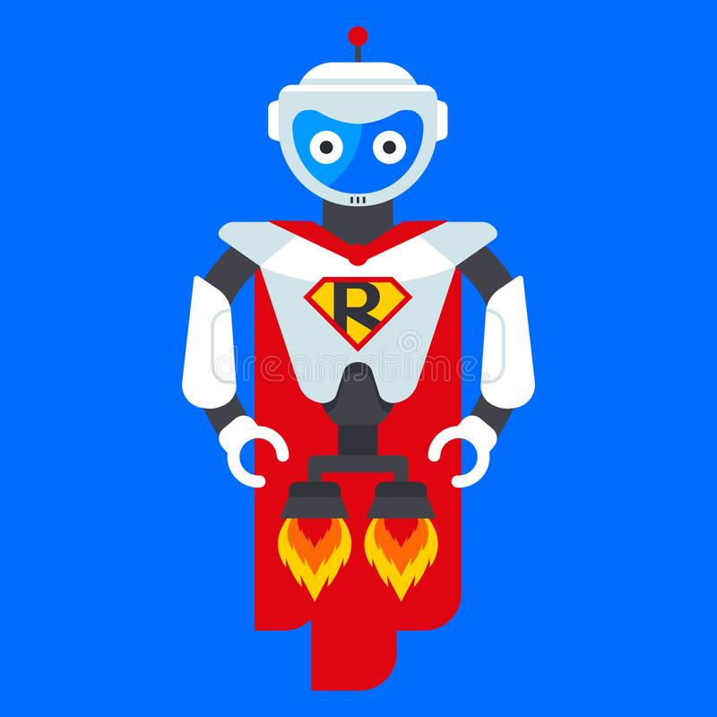 Super-herói robô de ferro ilustração royalty free